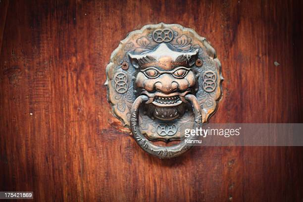 ancient chinese door - door lock stock pictures, royalty-free photos & images