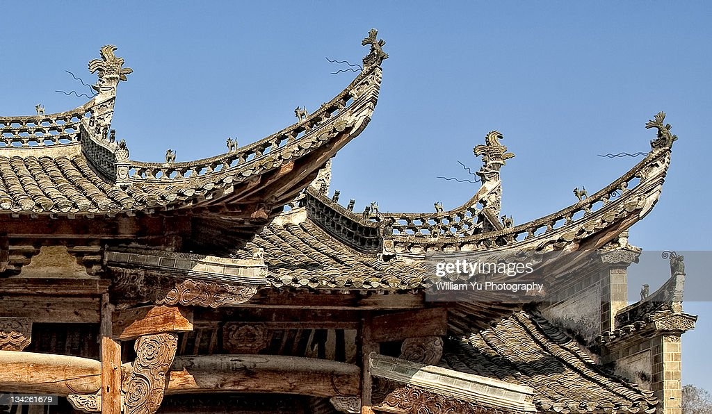 Ancient Chinese Roof Design High Res Stock Photo Getty Images