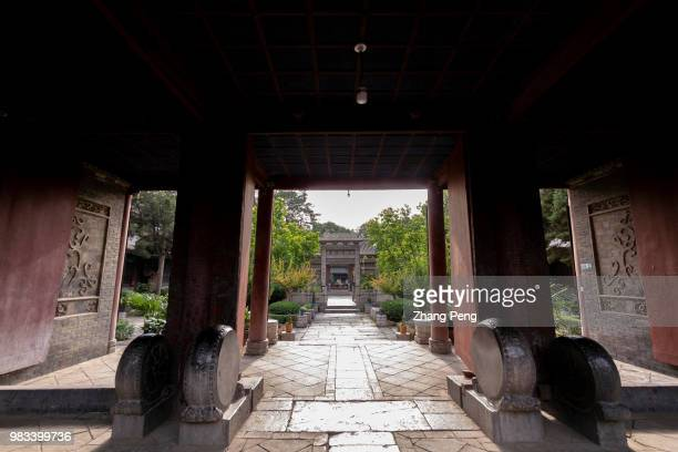 XI'AN SHAANXI PROVINCE CHINA Ancient Chinese styled gate and pathway in the mosque Xi'an Great Mosque which is a blend of traditional Chinese and...