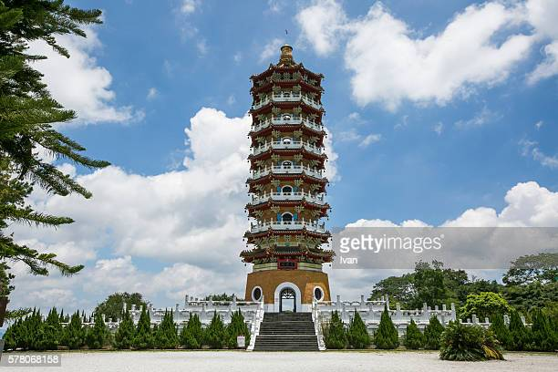 Ancient Chinese Temple Tower of Heaven with Traditional Pagoda Tower