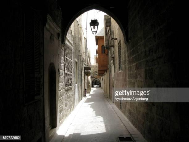 ancient city of aleppo, syria - argenberg bildbanksfoton och bilder