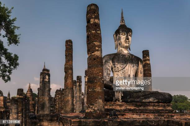 ancient city of sukhothai - theravada stock pictures, royalty-free photos & images