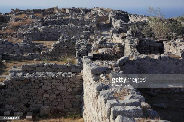 Ancient city of Thira, Santorini Greece