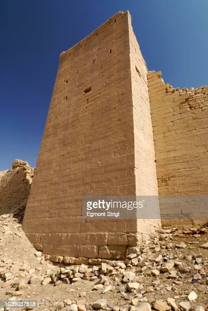 Ancient city wall of Baraqish, Yemen, Arabia, Arabian Peninsula, Middle East