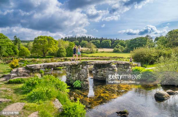 ancient clapper bridge Dartmoor