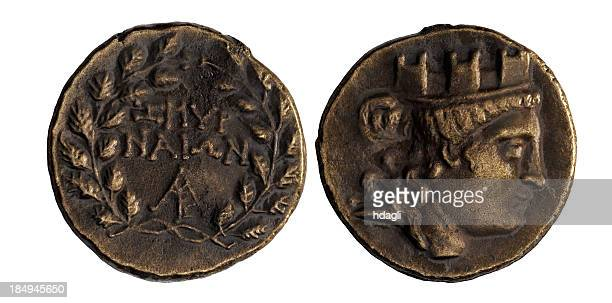 ancient coin - ancient stock pictures, royalty-free photos & images