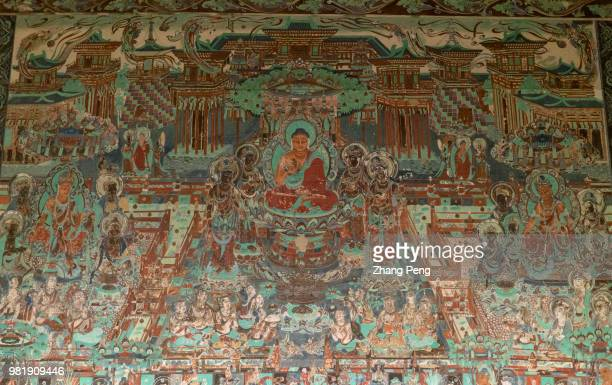 Ancient colorful murals on the cave wall, telling about stories of Buddhism, are mostly artworks of Tang Dynasty . The Mogao Caves, also known as the...