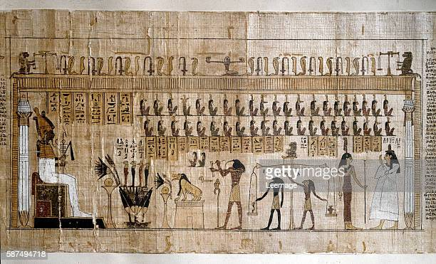 the weighing of the souls Papyrus from the Book of the Dead Egyptian Museum Turin Italy