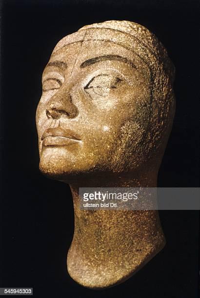 Ancient Egypt Uncompleted bust of Nefertiti wife of Pharaoh Akhenaton