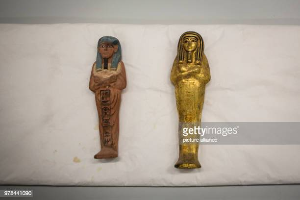 Ancient Egyptian artifacts lie inside a conservation laboratory at the Grand Egyptian Museum in Giza Egypt 26 April 2018 Photo Gehad Hamdy/dpa