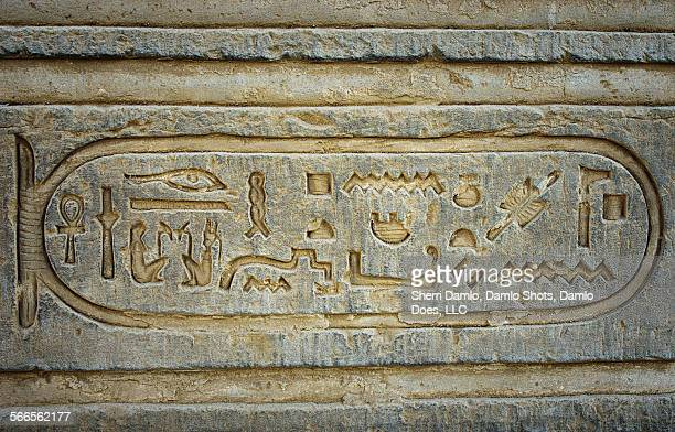 ancient egyptian cartouche - damlo does stock pictures, royalty-free photos & images