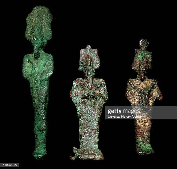 Ancient egyptian figures of the god