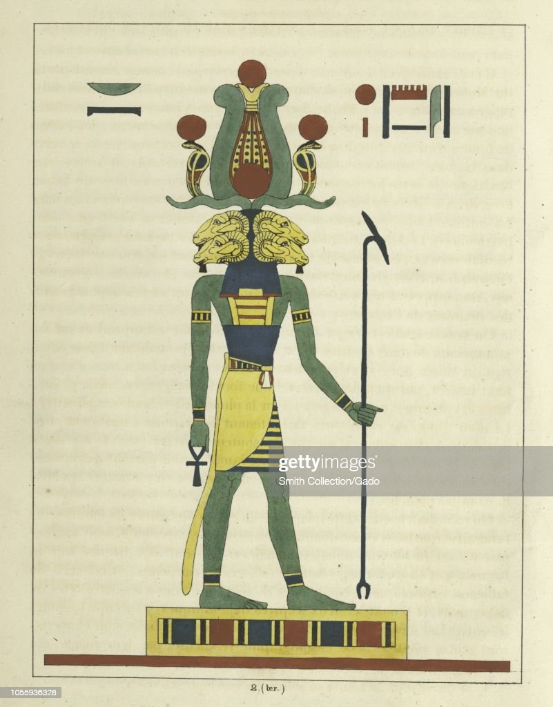 Ancient Egyptian god Amun , holding the ankh and the scepter