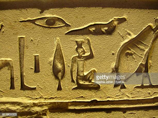 Ancient Egyptian hieroglyph on the wall