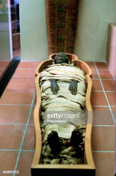 Ancient Egyptian mummy in wrappings From the Vatican Museum