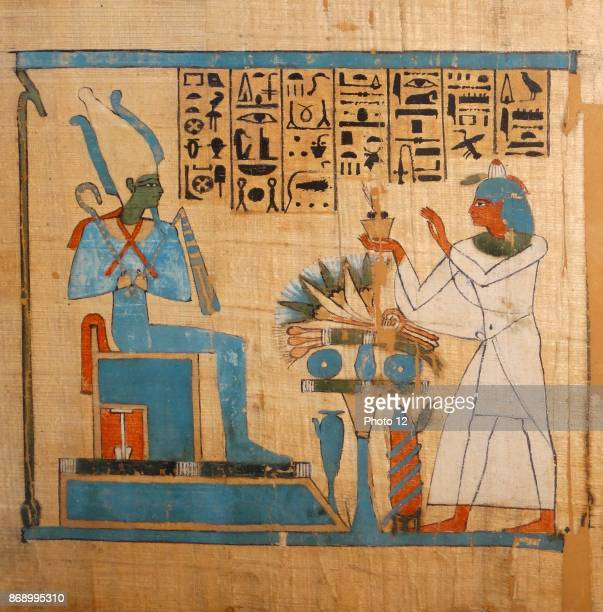 The weighing of the heart from the Book of the Dead of Hunefer 19th Dynasty about 1280 BC From Thebes Hunefer is led into the hall of judgement where...