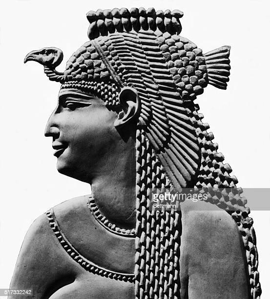 Ancient Egyptian relief of Cleopatra VII Undated photograph retouched BPA