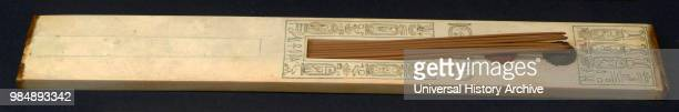 Ancient Egyptian Scribe's palette for writing with reeds from the tomb of Tutankhamen 1323 BC New Kingdom