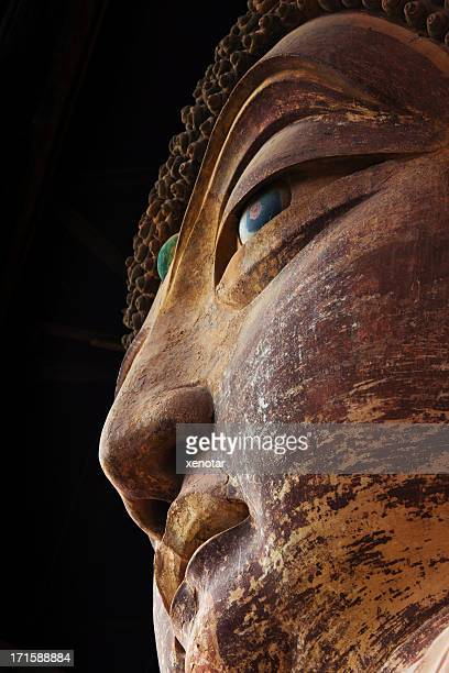 Ancient Famous buddha face of Maiji Mountain