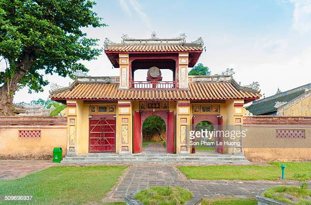 Ancient gate with watchtower in Citadel of Hue Imperial City