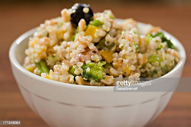 ancient grain salad - quinoa stock pictures, royalty-free photos & images
