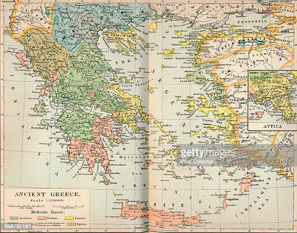 Ancient Greece circa 1901 From The Worlds History Volume IV by Dr H F Helmolt [William Heinemann London 1902] Artist Unknown