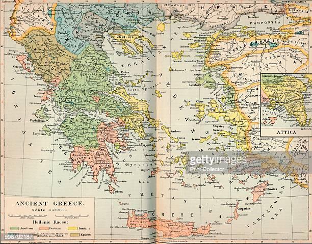 Ancient Greece circa 1901 From The Worlds History Volume IV by Dr H F Helmolt [William Heinemann London 1902] Artist Unknown