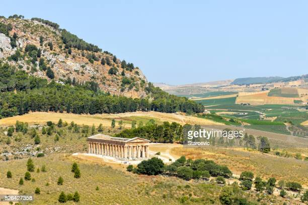 Ancient Greek Ruins in Segesta, Sicily