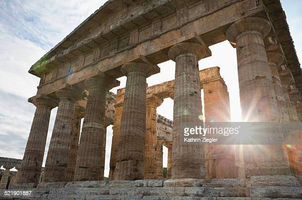 Ancient Greek temple, Paestum, Italy