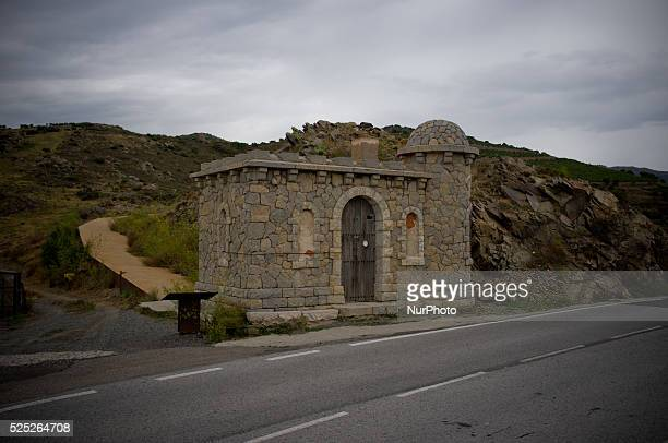 Ancient guardhouse is seen on the former border between Spain and France at the top of the Coll dels Belitres on 4th september 2015 After the Spanish...