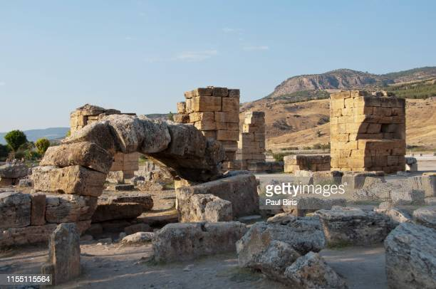 ancient hierapolis-pamukkale. turkey - byzantine stock pictures, royalty-free photos & images