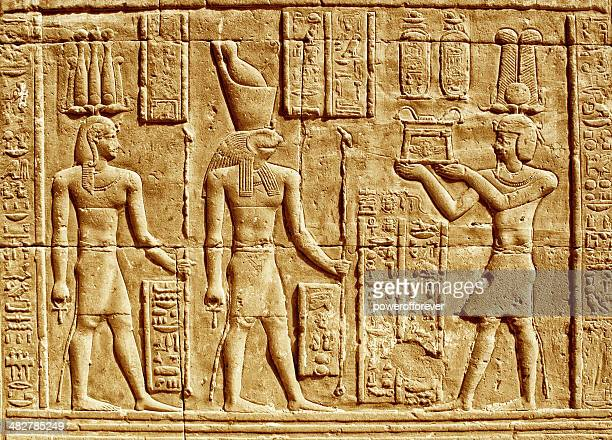 ancient hieroglyphics - egyptian god stock pictures, royalty-free photos & images