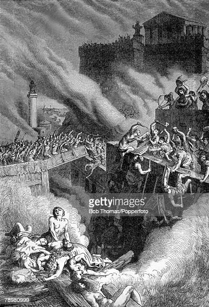 circa 147 BC This illustration is entitled The Storming Of The Byrsa Carthage The city was destroyed by the Romans in fierce fighting with the...