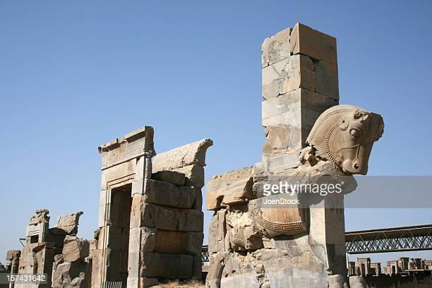 古代の馬の像 persepolis ユネスコのサイトイラン - ペルシア文化 ストックフォトと画像