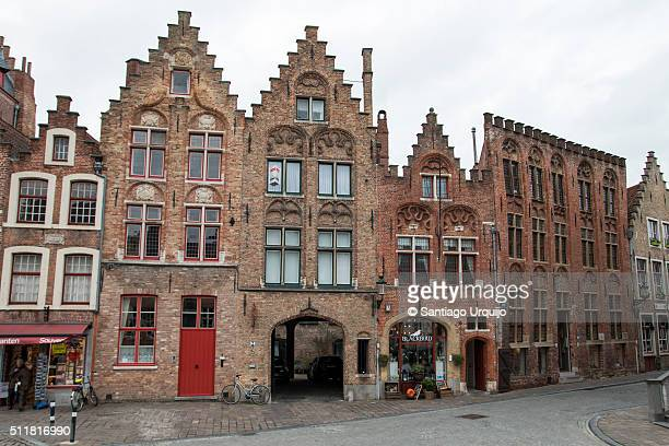 Ancient houses in Bruges