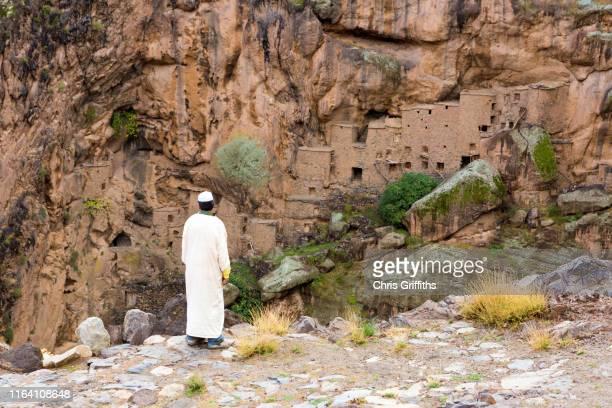 ancient igoudar of southern morocco - amazigh photos et images de collection