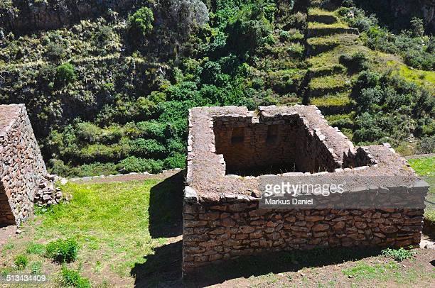"""ancient inca ruins and terraces at pisac, peru - """"markus daniel"""" fotografías e imágenes de stock"""