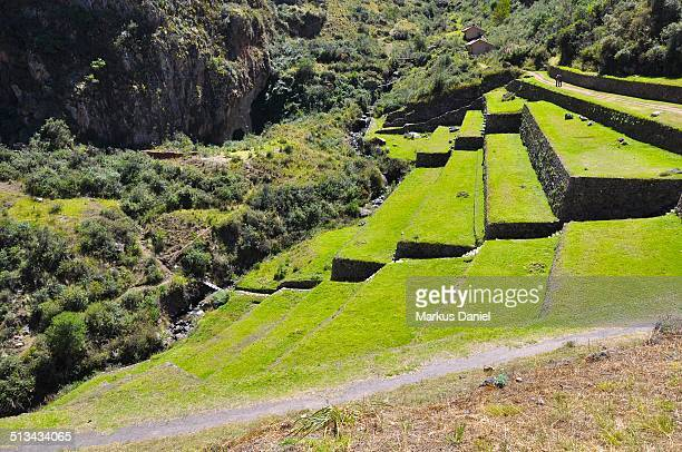 "ancient inca ruins and terraces - ""markus daniel"" stock pictures, royalty-free photos & images"