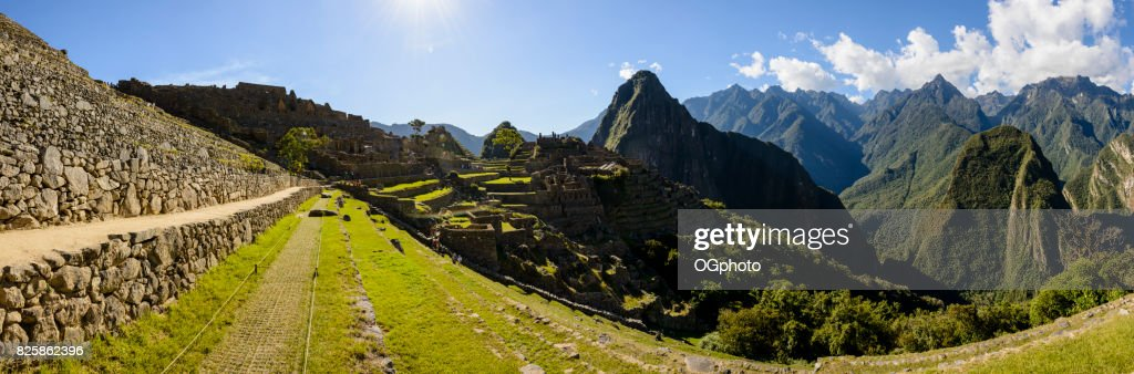 Ancient Inca ruins of Machu Picchu, Peru : Stock Photo