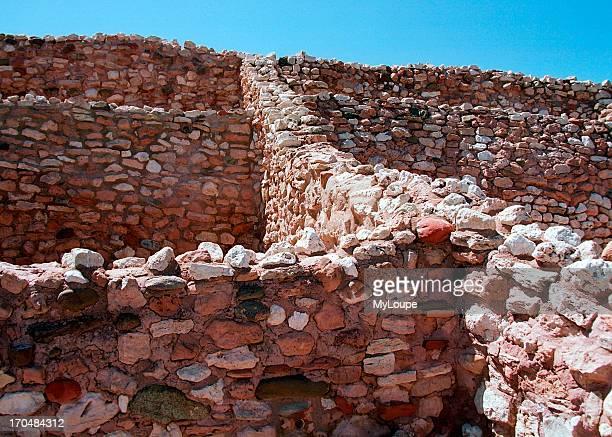 Ancient Indian ruins near Tuzigoot National Monument, near Jerome, Arizona.