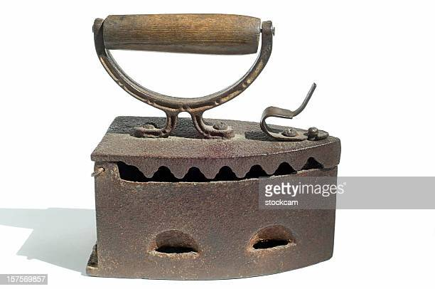 Antique Steam Iron Stock Pictures
