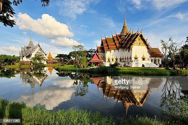 Ancient Kings Palace with reflection in a lake