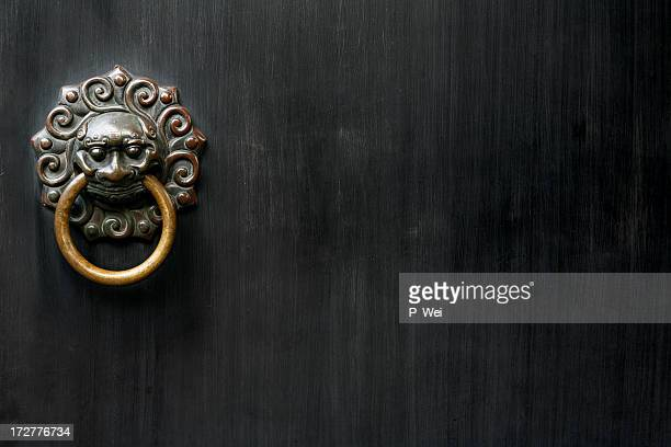 ancient knocker - door knocker stock photos and pictures