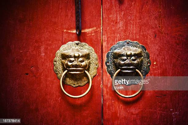 ancient knockers - door knocker stock photos and pictures