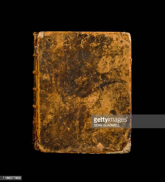 ancient leather book - leather stock pictures, royalty-free photos & images