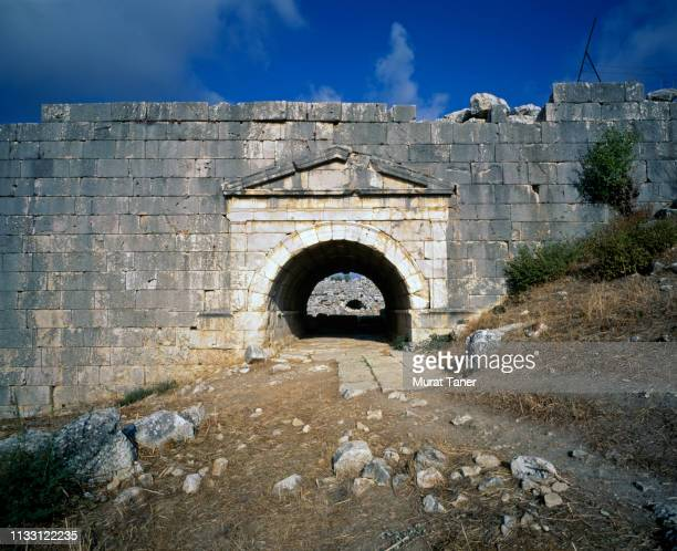 ancient lycian ruins at letoon - ancient greece photos stock pictures, royalty-free photos & images