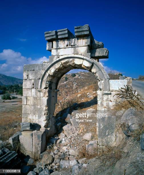 ancient lycian ruins at xanthos - ancient greece photos stock pictures, royalty-free photos & images