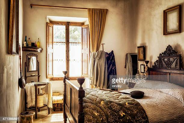 ancient majorcan bedroom - ancient stock pictures, royalty-free photos & images
