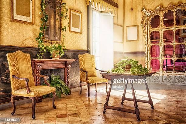 ancient majorcan living room / alfàbia - sala de l'alcova - baroque stock pictures, royalty-free photos & images