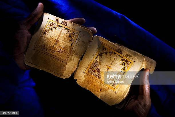 Ancient manuscripts from the 16th century depicting the grave of the Prophet and two partners and the Mosque in Medina 16 September 2009 These...